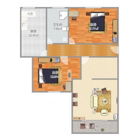 香秀里242室1厅1卫1厨119.00㎡户型图