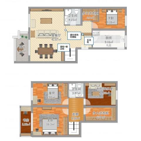昌平华龙苑北里4室2厅2卫1厨196.00㎡户型图