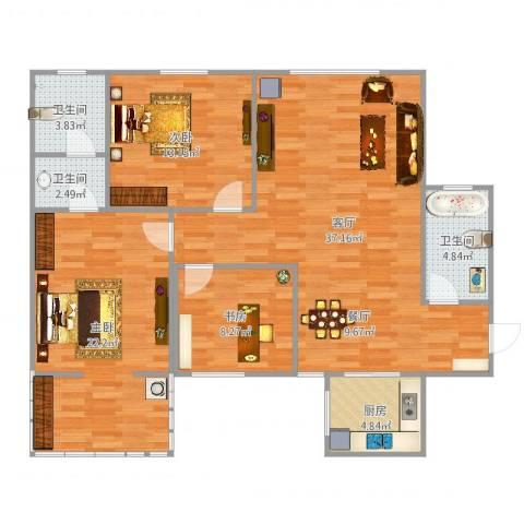 陕安丰登小区73室1厅3卫1厨121.00㎡户型图