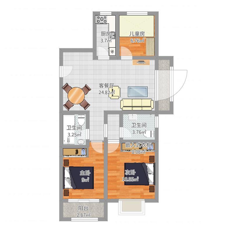 三室两厅120方