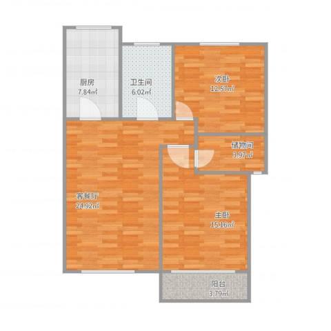 延吉东路1312室2厅1卫1厨100.00㎡户型图