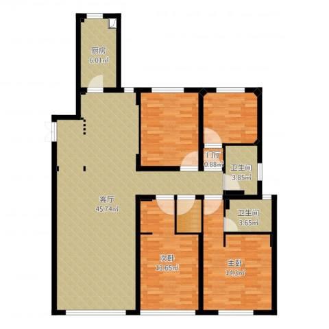 佳兆业・水岸新都2室1厅5卫1厨134.00㎡户型图