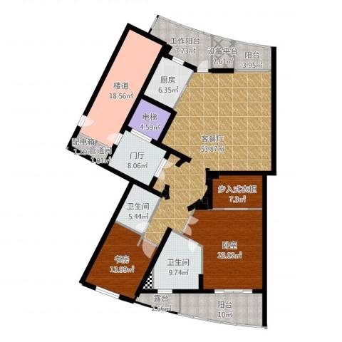 徐汇中凯城市之光1室2厅2卫1厨226.00㎡户型图