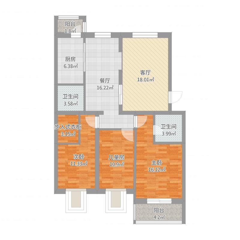 怡海花园21号楼B单元301三室