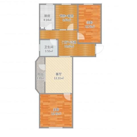 安慧东里1号院2室1厅1卫1厨82.00㎡户型图