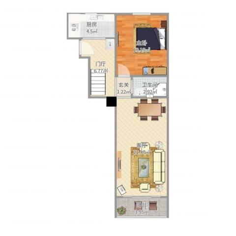 凤城三村2室1厅1卫1厨59.00㎡户型图