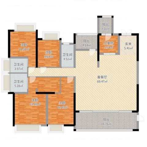 鼎峰源著5室2厅3卫0厨219.00㎡户型图