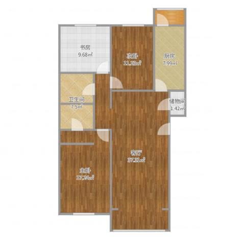 龙跃苑东五区3室1厅1卫1厨118.00㎡户型图