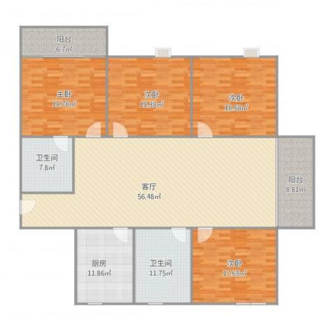 阳光四季园62.14024室1厅2卫1厨234.00㎡户型图