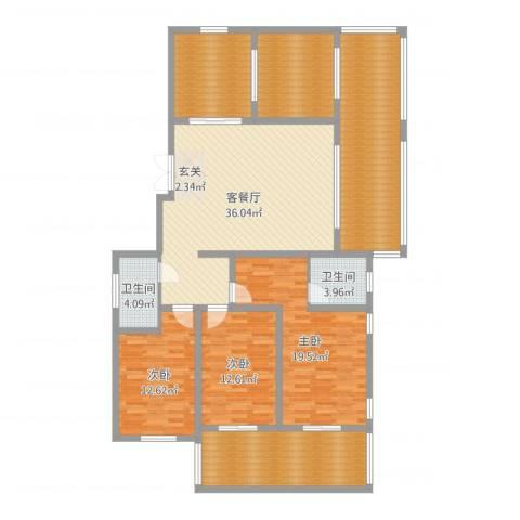 蓝柏湾5室2厅3卫1厨176.00㎡户型图