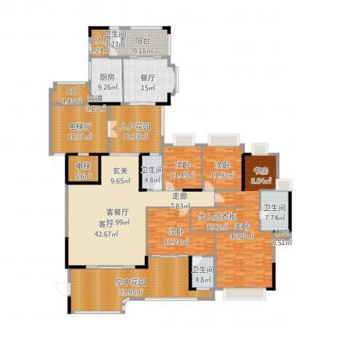 珠光新城御景4室3厅4卫1厨354.00㎡户型图