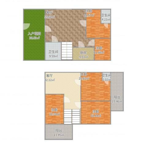 顺峰山语5室2厅3卫1厨375.00㎡户型图