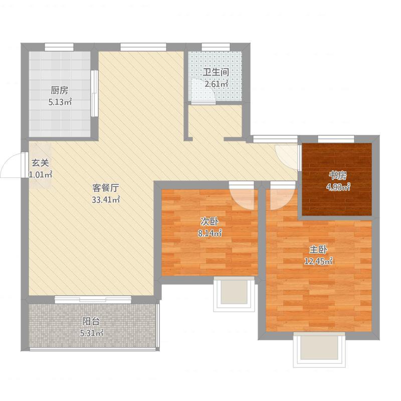 中建福地星城2号楼_E3户型2016-04-05-1837