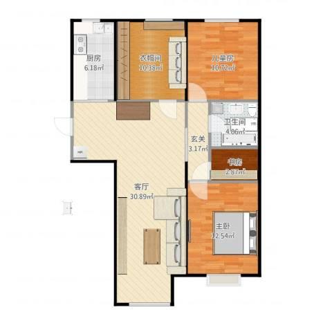 太阳城3室1厅1卫1厨101.00㎡户型图