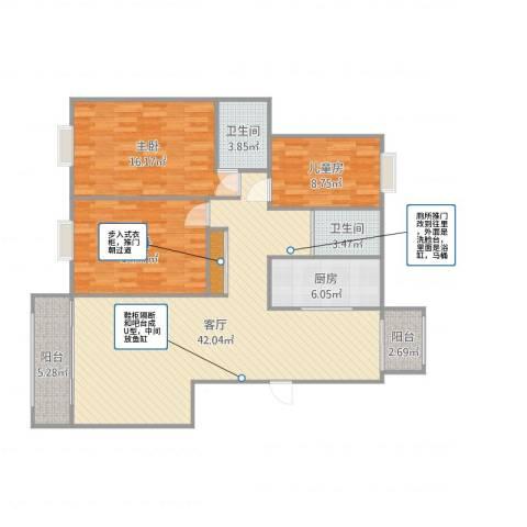 宝石御景园4室1厅2卫1厨130.00㎡户型图