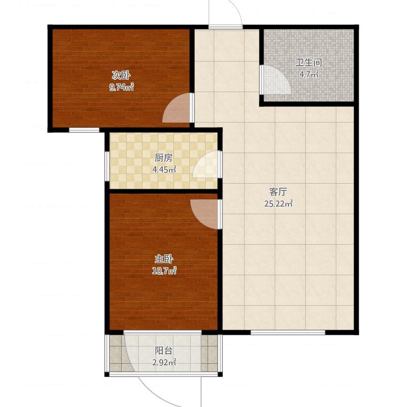定兴-汇金公寓-京溪南-两室两厅一卫80.58㎡