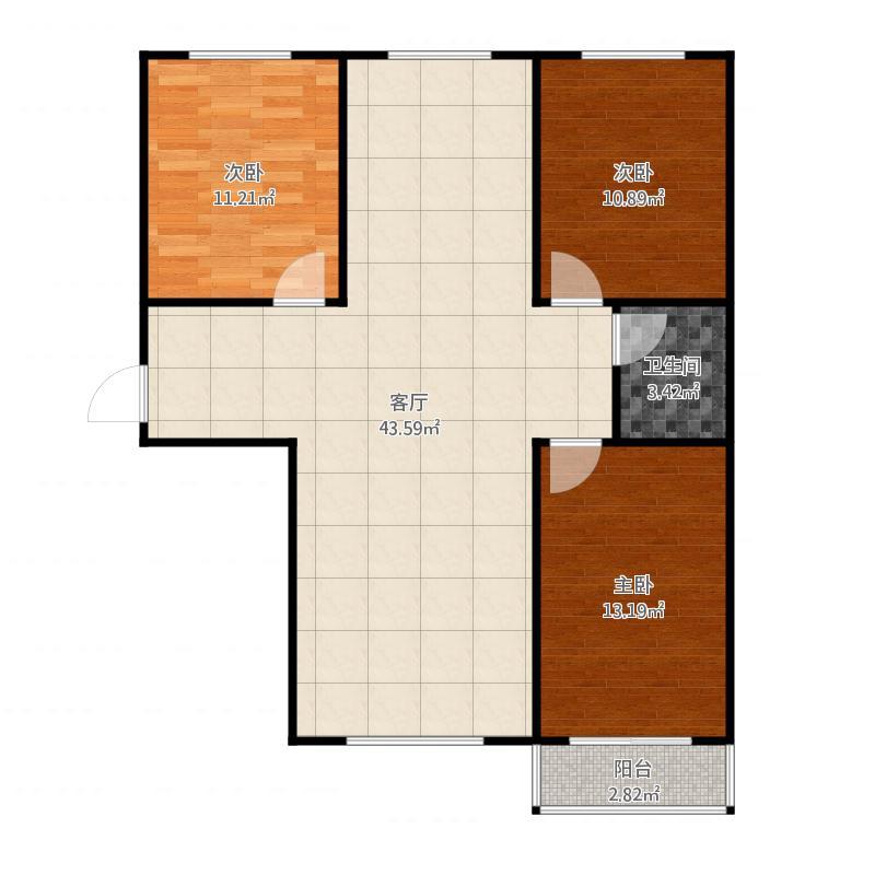 定兴-汇金公寓-京溪南-三室两厅一卫-116.25㎡