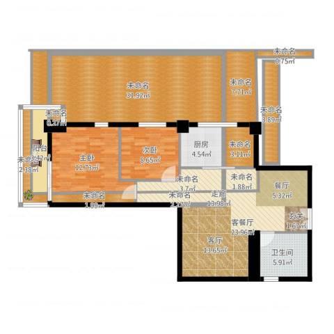 中天国际公寓2室2厅1卫1厨178.00㎡户型图