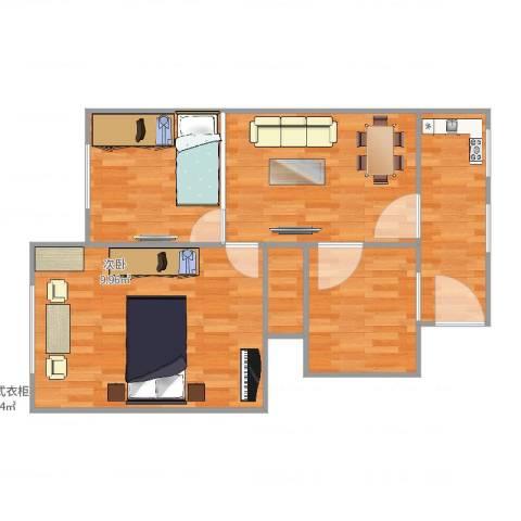 康泰公寓2室1厅1卫1厨80.00㎡户型图