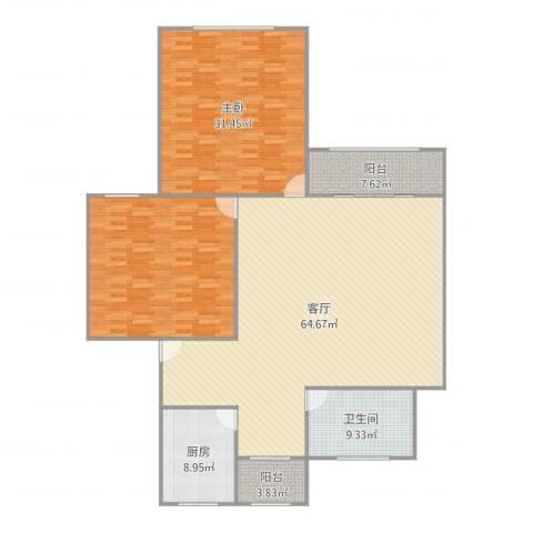 凌霄苑1室1厅1卫1厨191.00㎡户型图