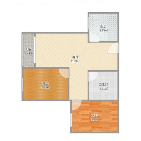 新华里12号1室1厅1卫1厨66.00㎡户型图