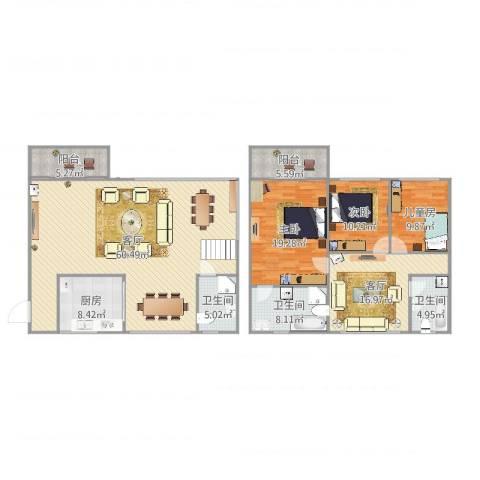黄岐第一城3室2厅3卫1厨193.00㎡户型图