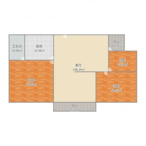 紫荆南苑B7-5013室1厅1卫1厨496.00㎡户型图