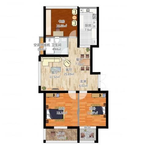 丰臣国际广场3室1厅1卫1厨101.00㎡户型图