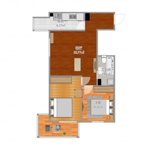 金世纪嘉园1室1厅1卫1厨74.00㎡户型图