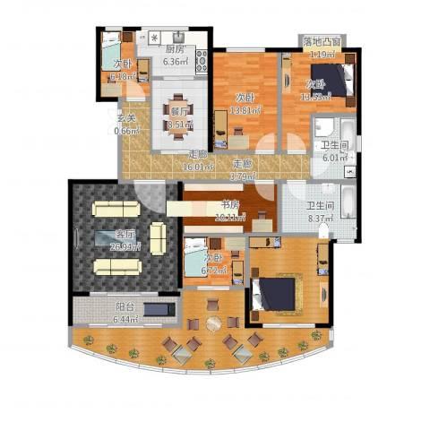鼎泰翠湖山6室1厅2卫1厨204.00㎡户型图