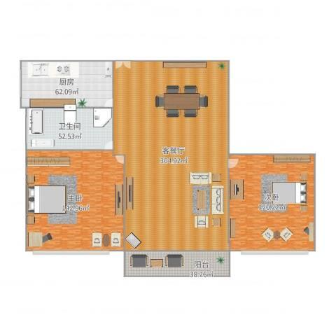 慧芝湖花园二期32号5012室2厅1卫1厨921.00㎡户型图
