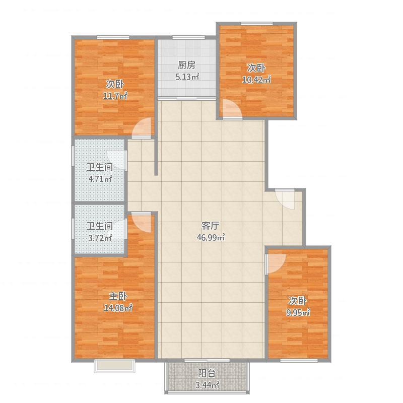 定兴-首府花园-四室两厅两卫-139㎡