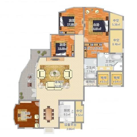 君悦花园4室2厅2卫1厨311.00㎡户型图