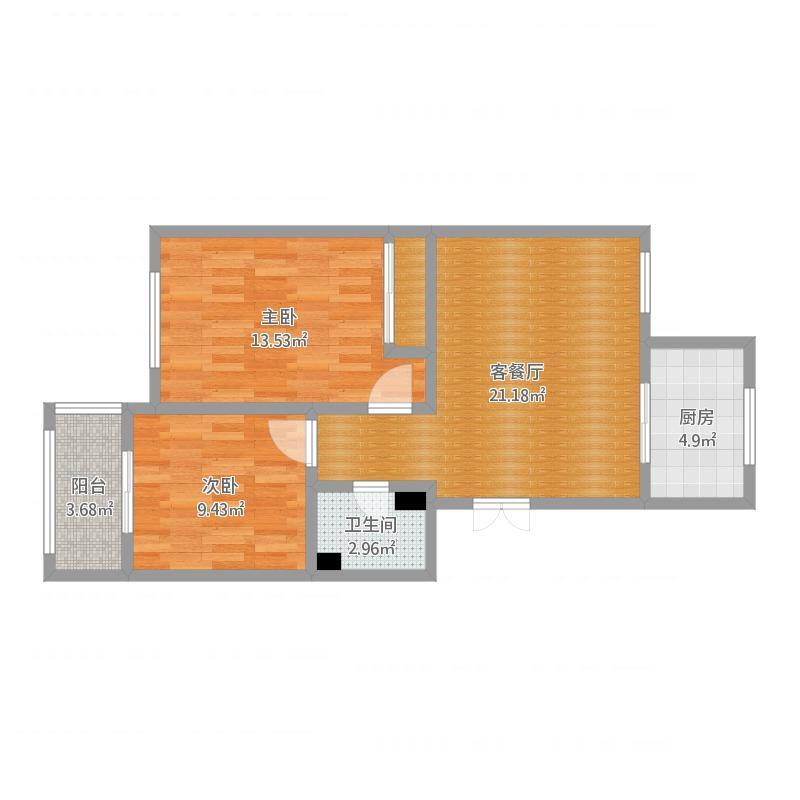 广厦水晶城90平两室一厅