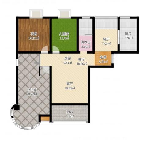 君廷湖畔2室1厅2卫1厨149.00㎡户型图