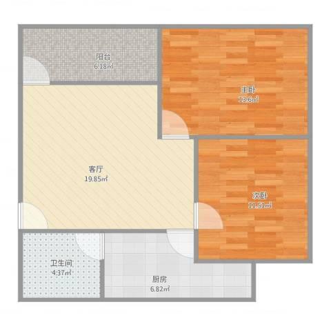 金桂花园中北区1座05052室1厅1卫1厨84.00㎡户型图
