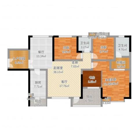 中天会展城3室1厅6卫1厨145.00㎡户型图