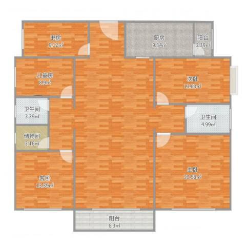 御龙华庭5室1厅2卫1厨200.00㎡户型图