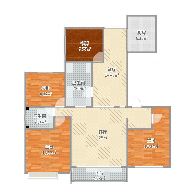 158平四室两厅