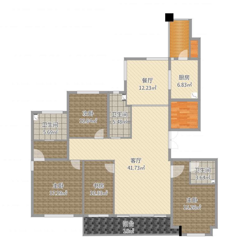 190平A1户型四房两厅