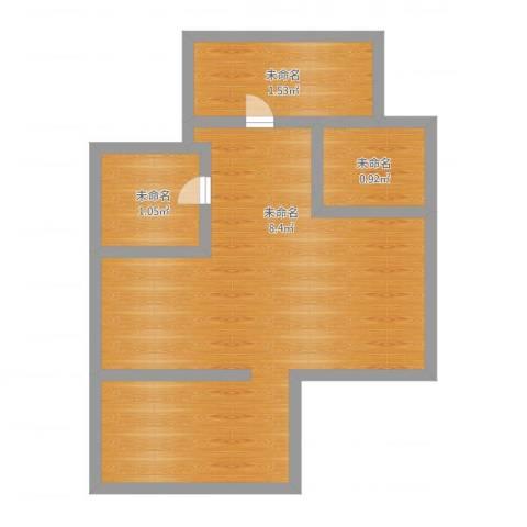 银都六村2室1厅1卫1厨57.00㎡户型图