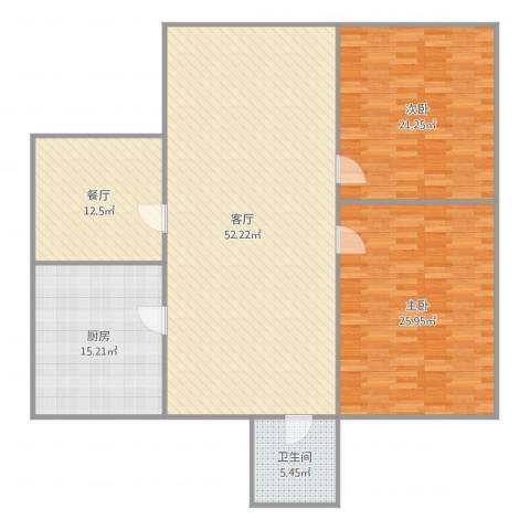 育秀十一区2室2厅1卫1厨174.00㎡户型图