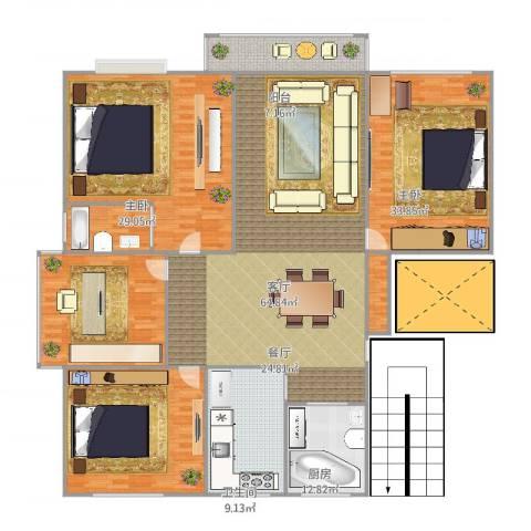 钱江四苑4室1厅2卫1厨258.00㎡户型图