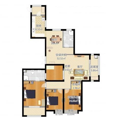 开元翡翠湾4室2厅3卫3厨159.00㎡户型图