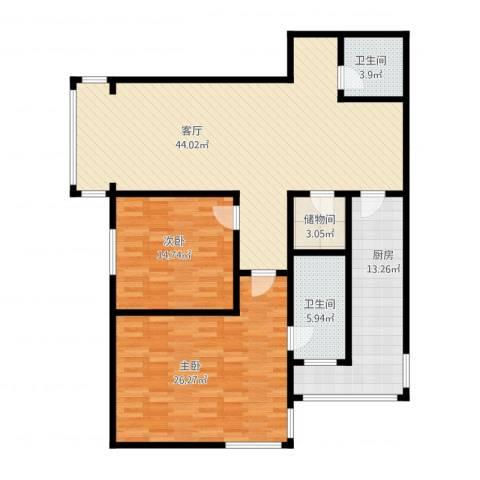 天通・公园里2室1厅2卫1厨155.00㎡户型图