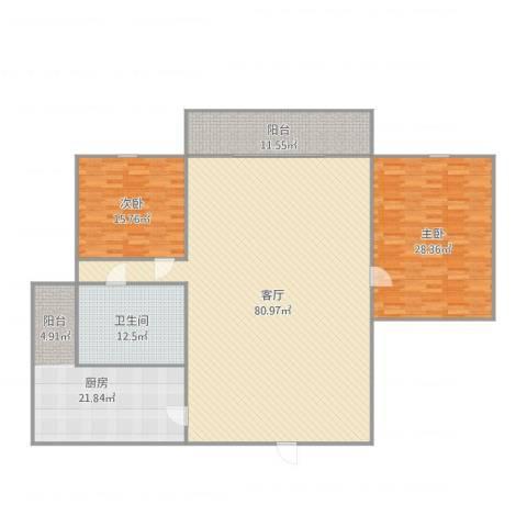 岐海苑2室1厅1卫1厨224.00㎡户型图