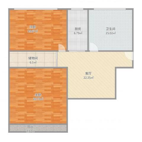 月浦八村2室1厅1卫1厨133.00㎡户型图