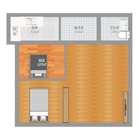 丰台马家堡东路108号院1室2厅1卫1厨51.00㎡户型图