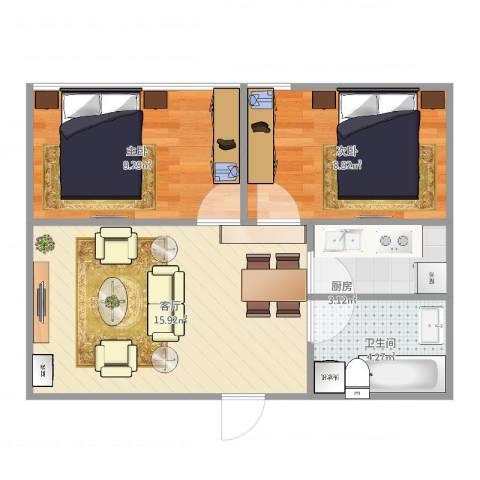 正成财富领地C22室1厅1卫1厨56.00㎡户型图