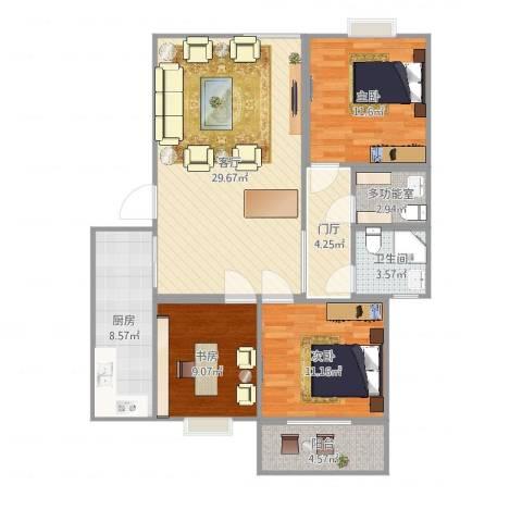 龙府北郡43室1厅1卫1厨101.00㎡户型图
